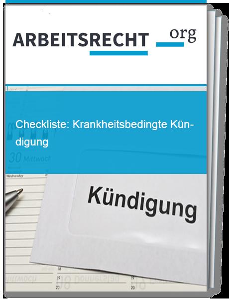 checkliste krankheitsbedingte kndigung - Krankheitsbedingte Kndigung Muster