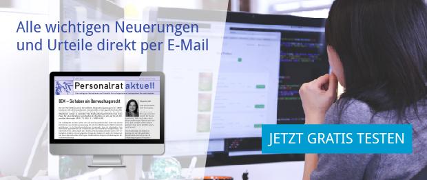 Personalrat aktuell online - Alle wichtigen Neuerungen und Urteile per E-Mail