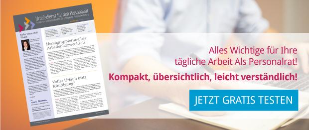 Urteilsdienst für den Personalrat - arbeitsrecht.org