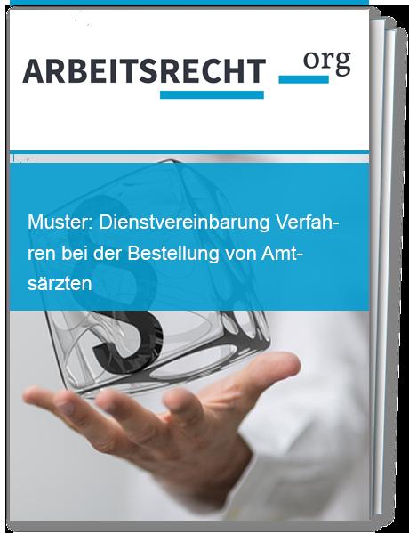 Vorlage für ein Verfahren bei der Bestellung von Amtsärzten