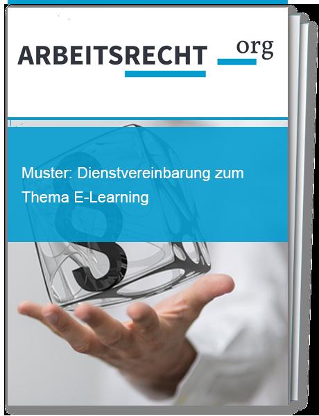 Vorlage für eine Dienstvereinbarung zum Thema E-Learning